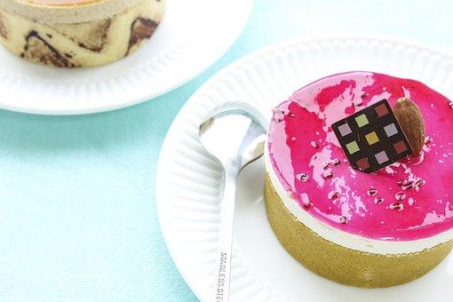 Cupcake, Dessert, Cake, Pink, Pastry, Food, Sweet