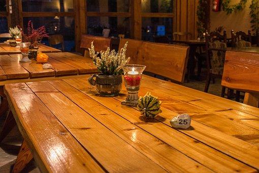 Table, Deco, Autumn, Decoration, Eat, After Work, Decor