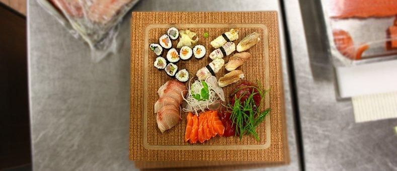 Sushi, Sashimi, Dish, Kitchen, Food, Eat, Foods, Edible