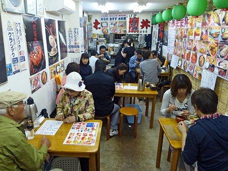 Japan, Restaurant, Food, Sashimi, Delicious, Eating