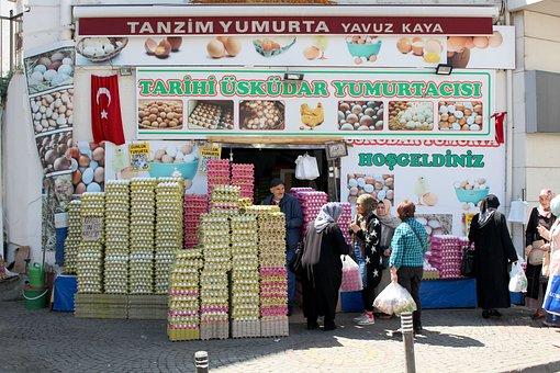 Istanbul, Turkey, üsküdar, Orient, Eggs Action, Egg