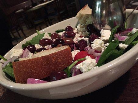 Salad, Greek, Feta, Food, Healthy, Cheese, Diet, Onion