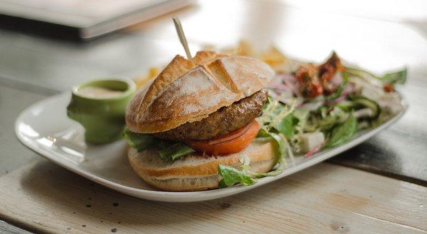 Hamburger, Meal, Dish, Restaurant, Food, Burger, Lunch