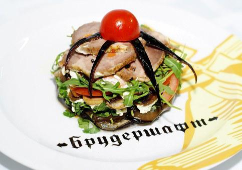 Salad, Cold Boiled Pork, Food, Satisfying, Delicious