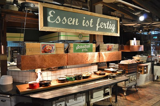 Restaurant, Counter, Gastronomy, Dine, Self Service