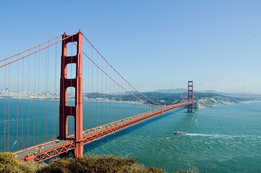 Golden Gate Bridge, Usa, America, Bridge, San Francisco