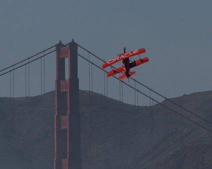 Golden Gate, Bridge, Plane, Sean Tucker