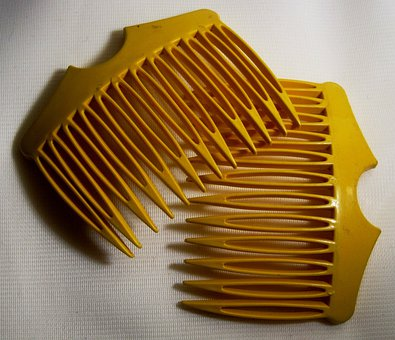 Combs, Hair, Yellow, Plastic, Accessory, Comb