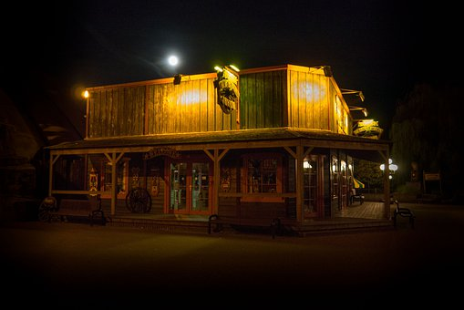 Theme Park, Slagharen, Netherlands, Holland, Night
