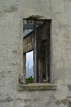 Ruin, Abandoned, Lapsed, Building, Alcatraz, Old