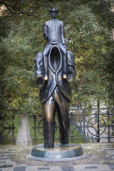 Prague, Monument, Czech Republic, Franz Kafka