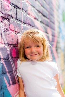 Girl, Wall, Mural, Girl Power, Students, Graffiti, Road