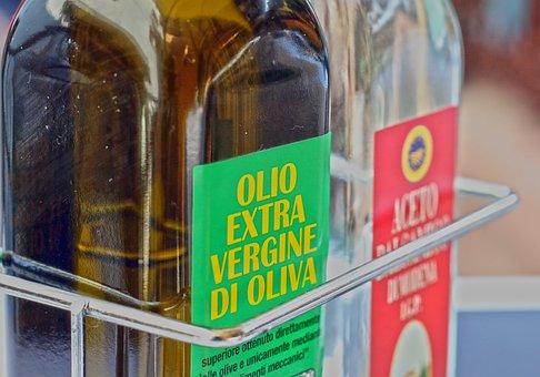 Oil, Olive Oil, Vinegar, Bottles, Food, Eat