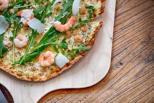Tarte Flambée, Shrimp, Parmesan, Eat, Winter, Food