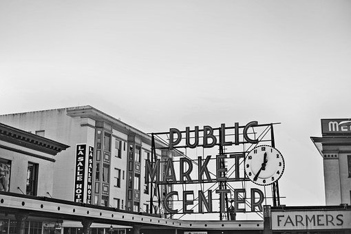 Seattle, Starbucks, Pikes Peak, Public Market, Place