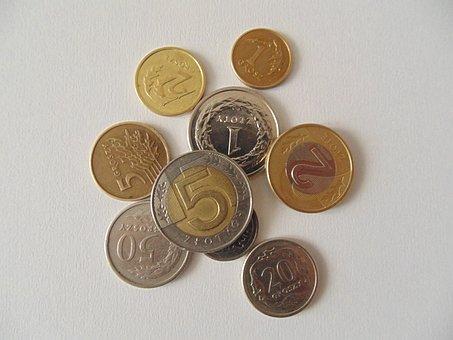 Coins, Polish, Currency, Money, Poland