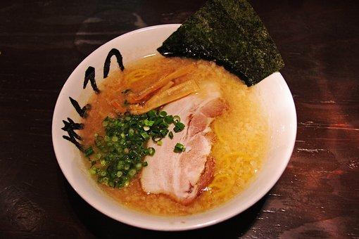 Ramen, Noodles, Hot, Yummy, Soup, Tasty, Spring Onion