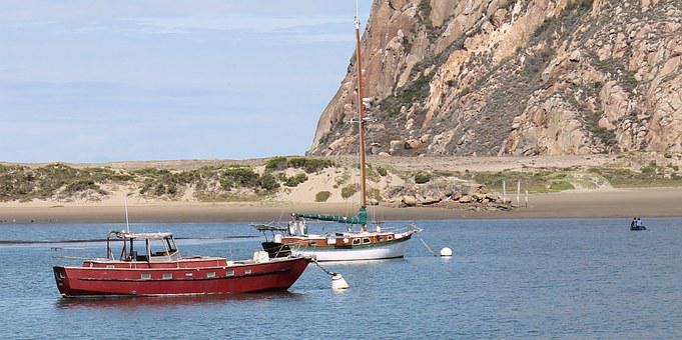 Morro Bay California, Boats, Red, Bay, Ocean, Fishing