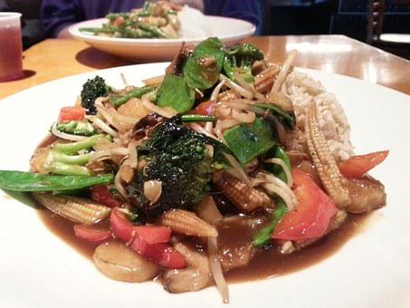 Veggie, Vegetables, Stir Fry, Dining, Restaurant