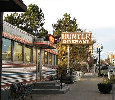 Diner, American Diner, Restaurant, Vintage Diner