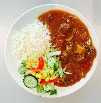 Dinner, Rice, Meal, Dinner Plate, Restaurant, Plate