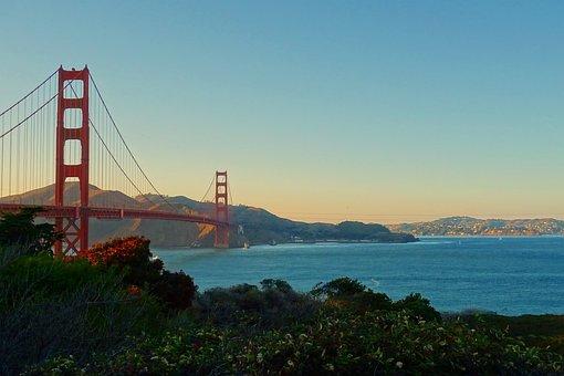 Golden Bridge, San Francisco, Bridge, California, Bay