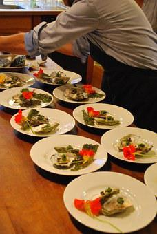 Oysters, Preparation, Food, Seafood, Shell, Prepared