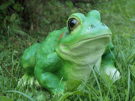 Frog, Decorative, Statuette, Garden, Clearance, Grass