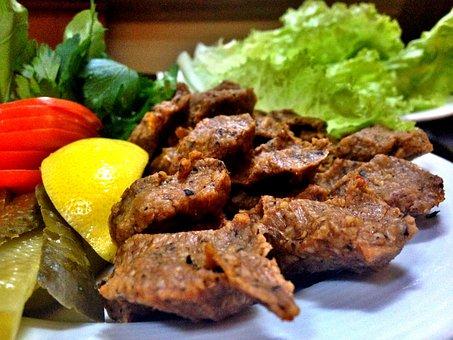 Raw Meat, Turkish Kufi, Lemon, Tomato, Food