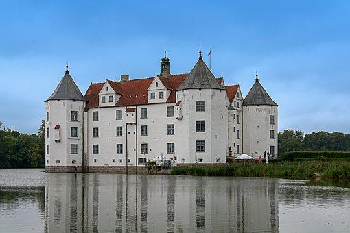 Wasserschloss Glücksburg, Noble, Old, Ancient Times