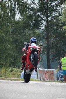Wheelie, Motorcycle, Stunt, Ducati