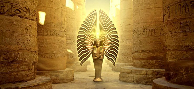 Angel, Statue, Egyptian, Sculpture, Antiquity, Religion
