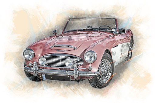 Austin-healey, Convertible, Auto, Car, Automotive