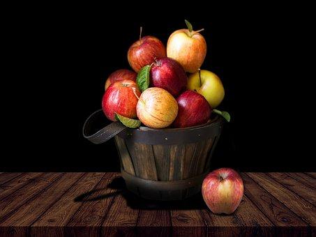 Basket, Apples, Healthy, Fruits, Produce, Food, Harvest