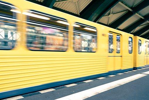 Train, Station, Berlin, Yellow Train, Railway Station