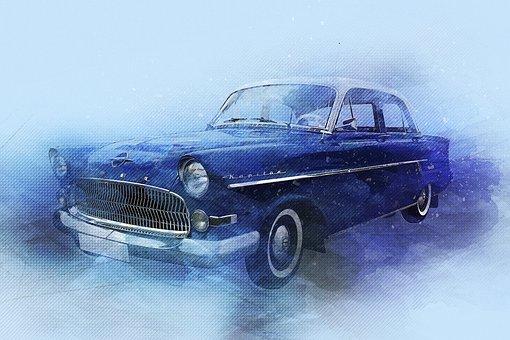 Opel Kapitan, Car, Vintage Car, Old, Limousine, Auto
