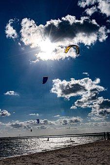 Ocean, Surfing, Kite Surfing, Sand, Sea, Surfer, Beach