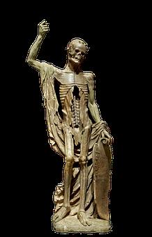 La Mort Saint, Isolated, Innocent, Skeleton, Sculpture