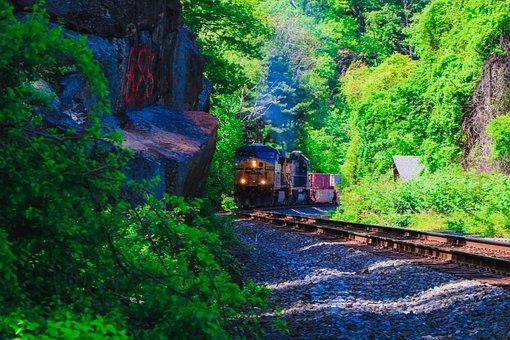 Trains, Train, Railroad, Nature, Locomotive, Cargo