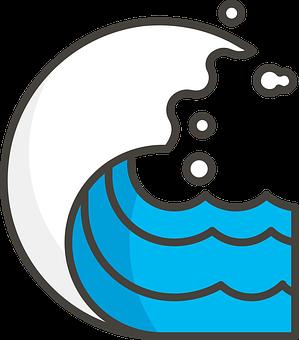 Sea, Waves, Ocean, Tidal Wave, Ocean Waves, Icon