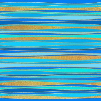 Stripes, Wallpaper, Waves, Ocean, Blue, Curves, Pattern
