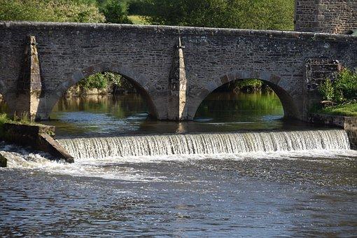 Bridge, River, Ducey-les-chéris, Old Bridge