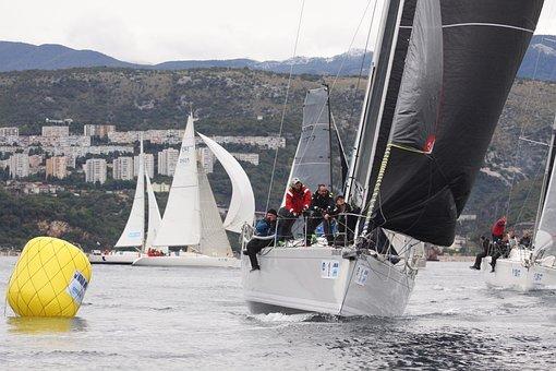 Sailing, Boats, Fiumanka, Bay, Sea, Sailboats