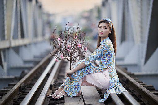 Peach Blossom, Spring, New Year, Train Line, Homecoming