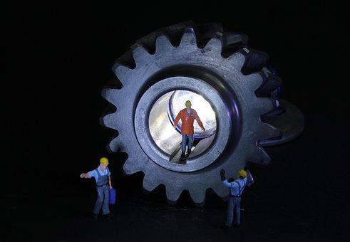 Transmission, Mechanical Engineering, Miniature Figures