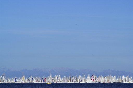 Sky, Regatta, Sailing Boat, Water, Sail, Blue