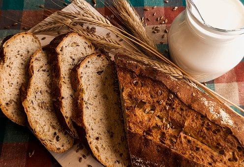 Product, Bun, Slice, Bread, Court, Grain, And, Basket