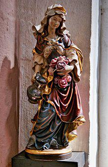 Statue, Saint Mary, Catholic, Holy, Church, Saint