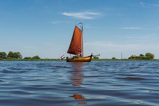 Boat, Sea, Sail, Water, Oldtimer, Holland
