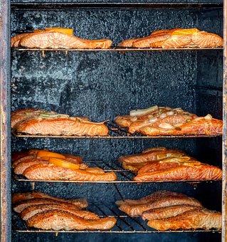 Fish, Smoking Oven, Fresh, Baking, Meal, Dish, Cook
